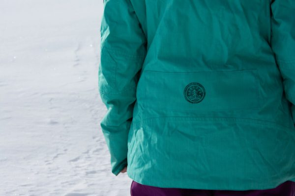 The One Tree Logo printed onto a new rental ski jacket